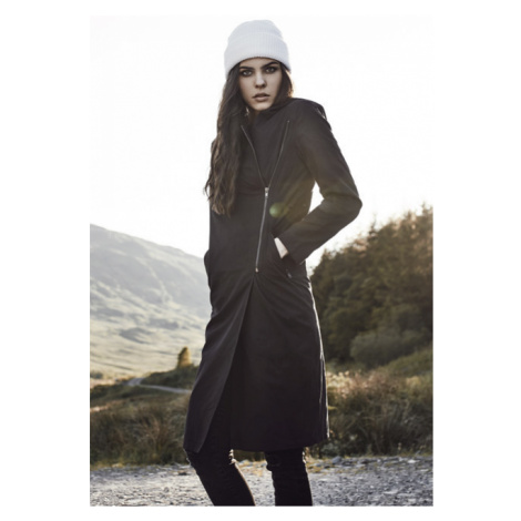 Urban Classics Ladies Peached Long Asymmetric Coat black