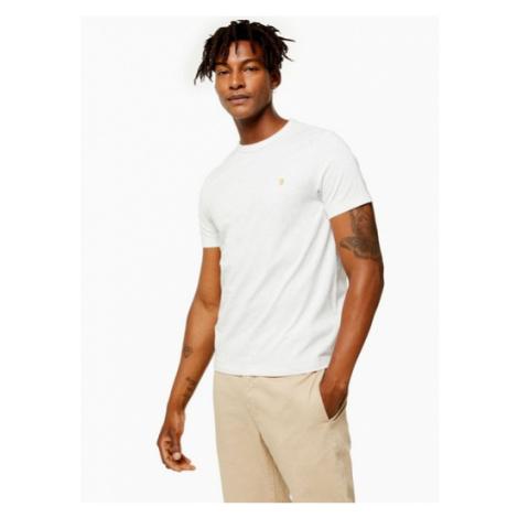 Mens Ecru Farah Marl Dennis Short Sleeve T-Shirt*, Ecru