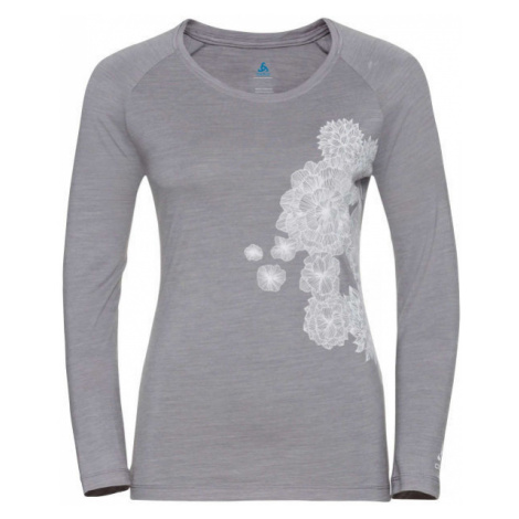 Odlo WOMEN'S T-SHIRT CREW NECK L/S CONCORD gray - Women's T-shirt
