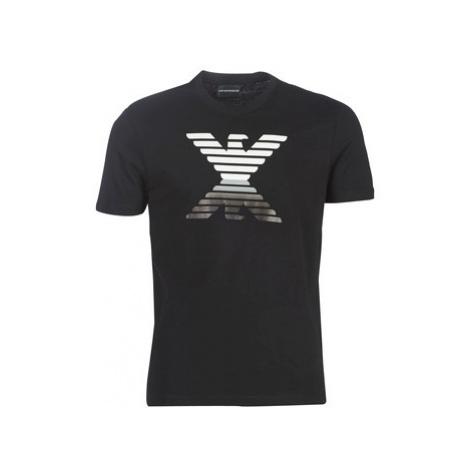 Emporio Armani 6G1TC3-1J00Z-0002 men's T shirt in Black
