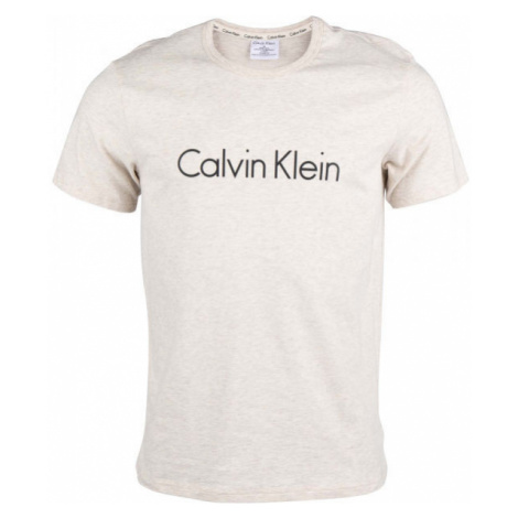 Calvin Klein S/S CREW NECK beige - Men's T-Shirt