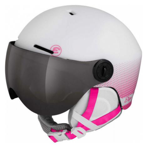 Etape SPEEDY PRO pink - Children's ski helmet with a visor