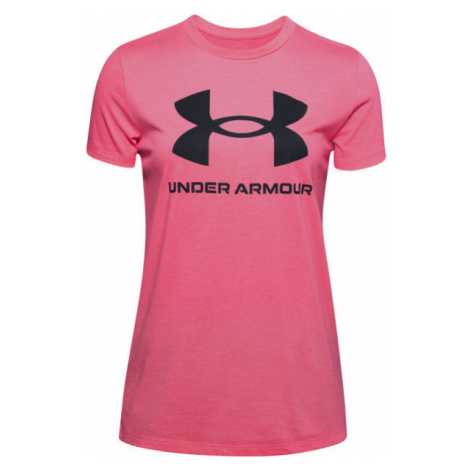 Under Armour LIVE SPORTSTYLE GRAPHIC SS pink - Women's T-shirt