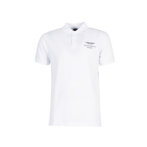 Hackett HM562482-800 men's Polo shirt in White