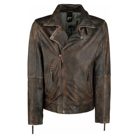 Gipsy - Marvin Slim Fit LANTV - Leather jacket - brown