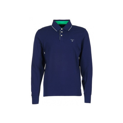 Gant 3-COL CONTAST RUGGER men's Polo shirt in Blue