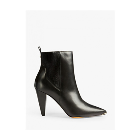 Ted Baker Conella Leather Pointed Ankle Boots, Black