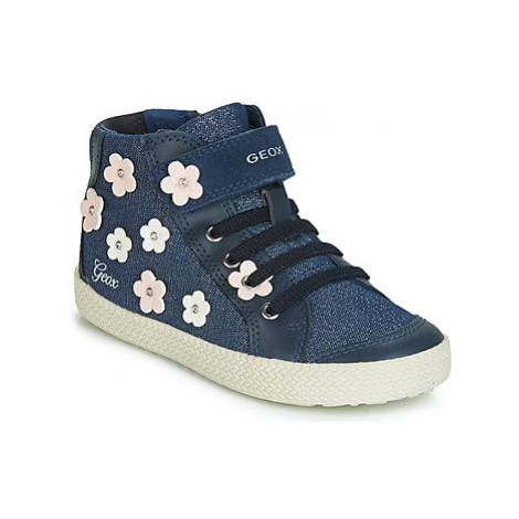 Geox B KILWI GIRL girls's Children's Shoes (High-top Trainers) in Blue