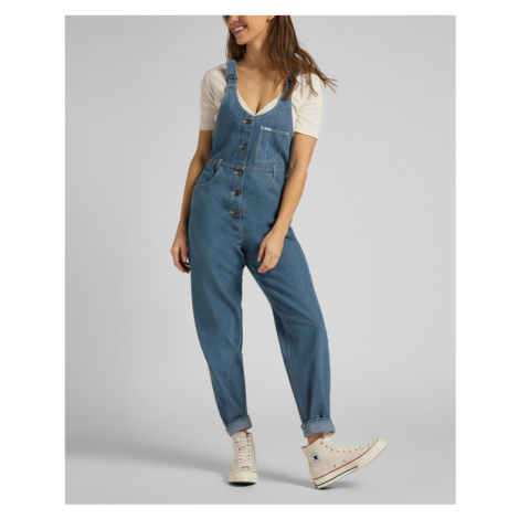 Lee Mom Jeans with braces Blue