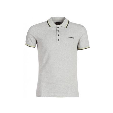 Diesel T RANDY BROCKEN men's Polo shirt in Grey
