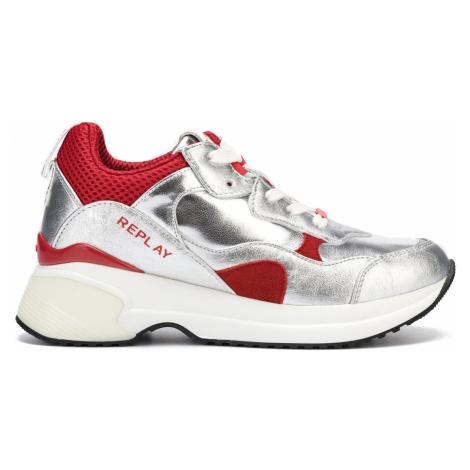 Replay Camrose Sneakers Red Silver