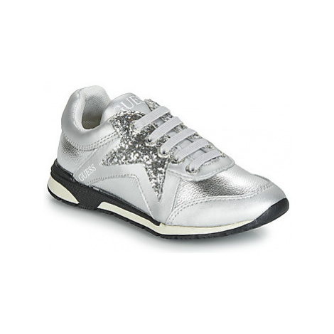 Guess LITZY girls's Children's Shoes (Trainers) in Silver
