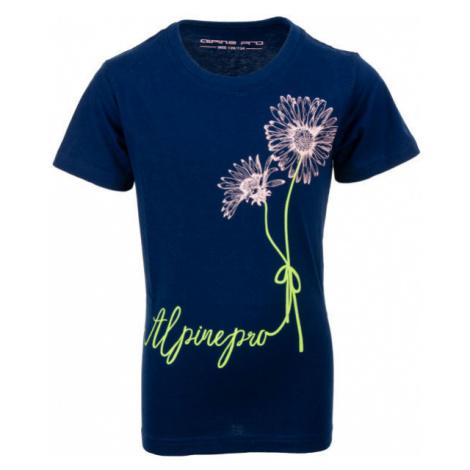 ALPINE PRO TABORO dark blue - Children's T-shirt