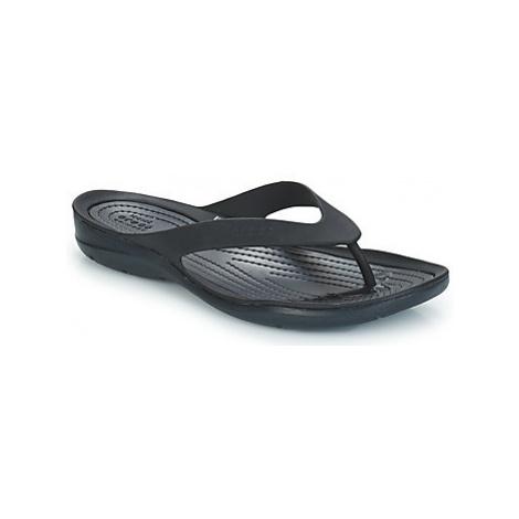 Crocs SWIFTWATER FLIP W women's Flip flops / Sandals (Shoes) in Black