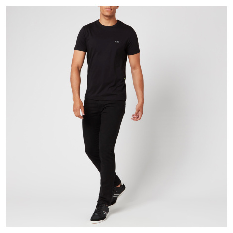 BOSS Men's Basic Crew Shoulder Logo T-Shirt - Black Hugo Boss