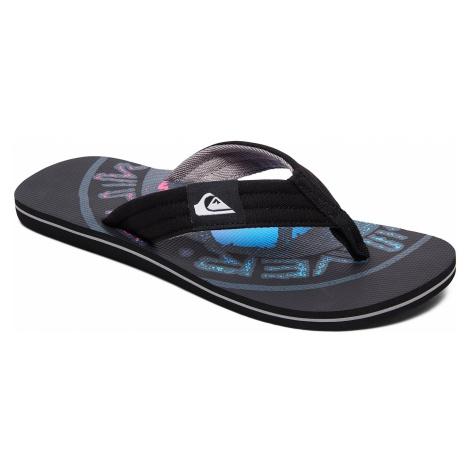 flip flops Quiksilver Molokai Layback - XKKS/Black/Black/Gray - men´s