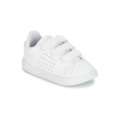 Le Coq Sportif COURTSET INF girls's Children's Shoes (Trainers) in White