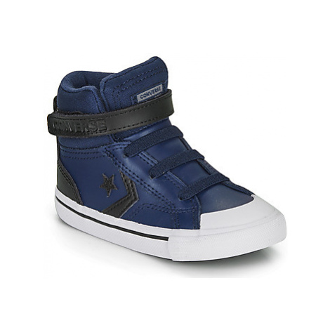 Converse PRO BLAZE STRAP MARTIAN LEATHER HI girls's Children's Shoes (High-top Trainers) in Blue