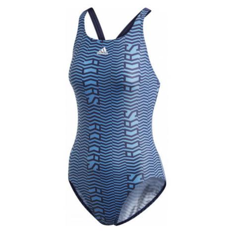 adidas SH3.RO LINAGE S dark blue - Women's swimsuit