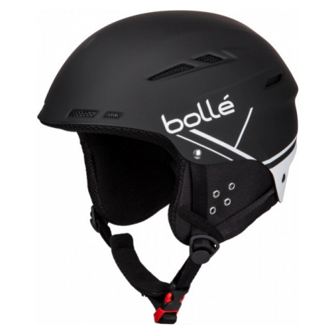 Black ski helmets