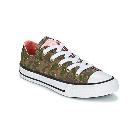 Converse Chuck Taylor All Star Ox Camo Gold Star girls's Children's Shoes (Trainers) in Green