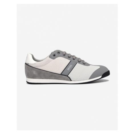 BOSS Glaze Sneakers White Grey Hugo Boss