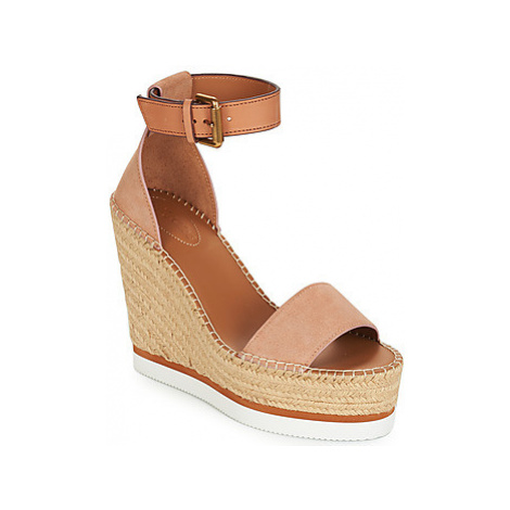 See by Chloé SB26152 women's Espadrilles / Casual Shoes in Beige