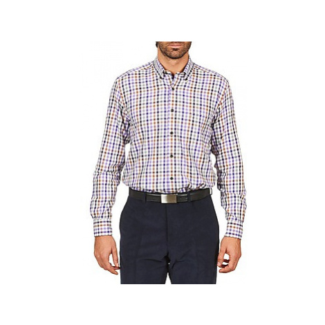 Pierre Cardin ELAZAR men's Long sleeved Shirt in Multicolour