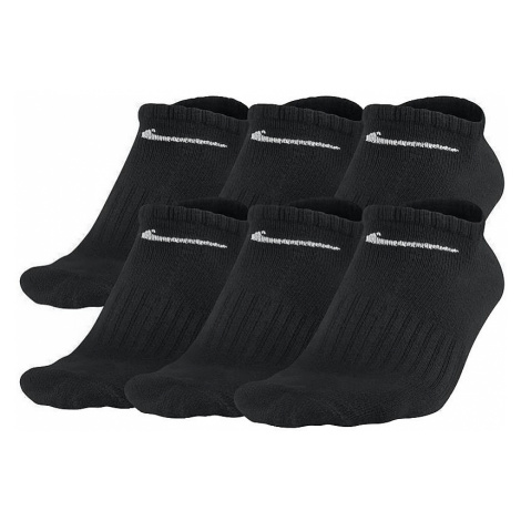 socks Nike Cotton Non Cusion No Show 6 Pack - 001/Black/White