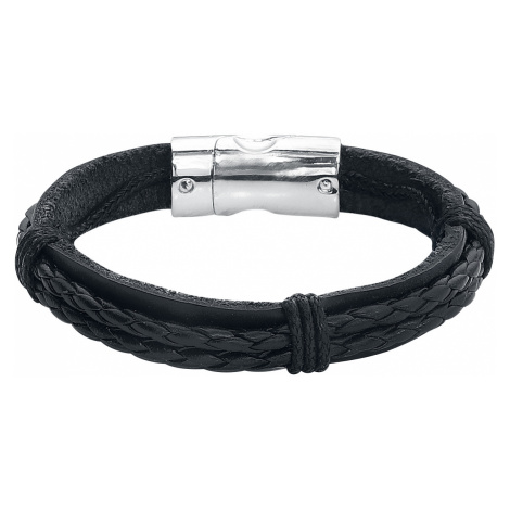 EtNox - Leather Strands - Leather bracelet - black