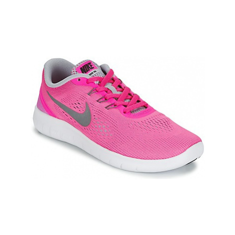 Nike FREE RUN JUNIOR girls's Children's Sports Trainers (Shoes) in Pink