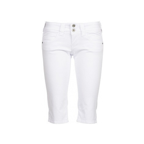 Pepe jeans VENUS CROP women's Cropped trousers in White