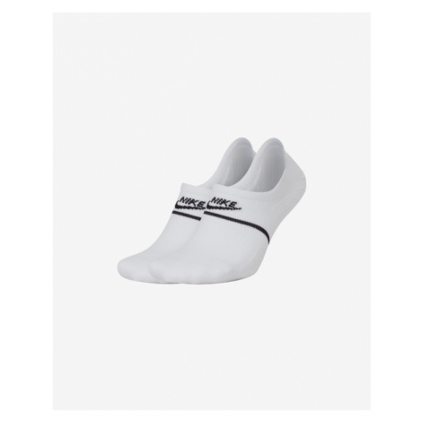 Nike Snickers Sox No-Show Footies Socks White