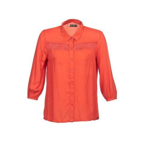 Volcom KNOTTY women's Long sleeved Shirt in Orange