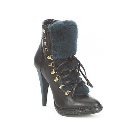Roberto Cavalli QPS583-PZ260 women's Low Ankle Boots in Black