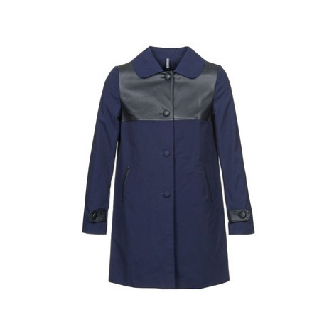 Naf Naf BAUNS women's Coat in Blue