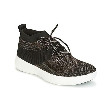 FitFlop UBERKNIT SLIP-ON HIGH TOP SNEAKER women's Shoes (High-top Trainers) in Black