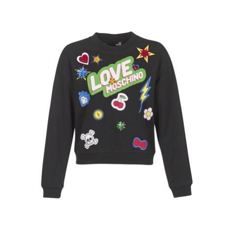 Love Moschino W630610 women's Sweatshirt in Black