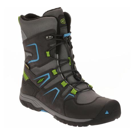 shoes Keen Levo Winter WP - Magnet/Blue Jewel - unisex junior