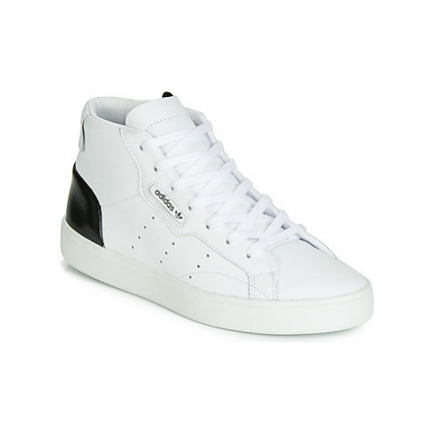 Adidas SLEEK MID W women's Shoes (High-top Trainers) in White