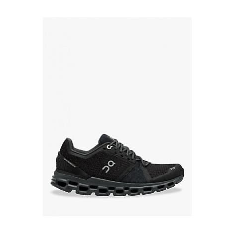 On CloudStratus Women's Running Shoes, Black/Shadow
