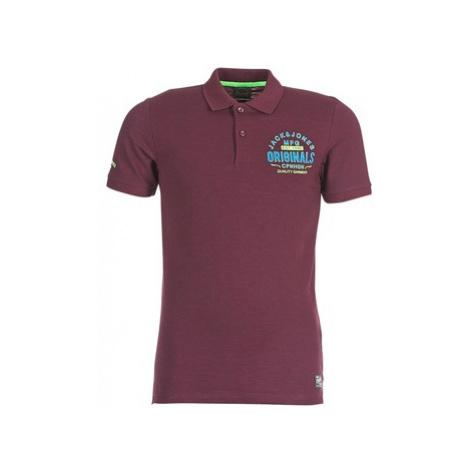 Jack Jones JORSOLIDUDE men's Polo shirt in Bordeaux Jack & Jones