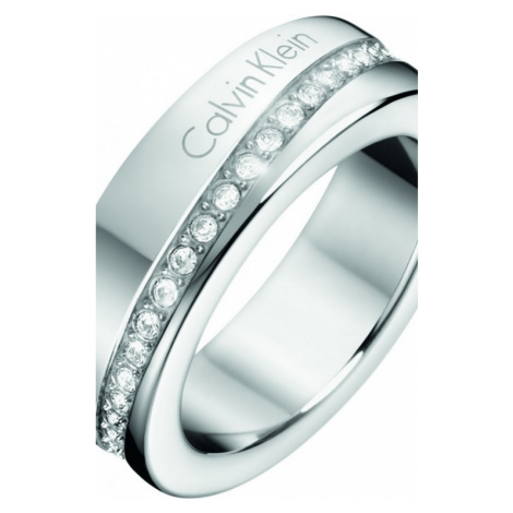 Ladies Calvin Klein Stainless Steel Size N Hook Ring KJ06MR040207