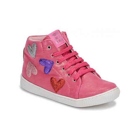 Agatha Ruiz de la Prada FLOW girls's Children's Shoes (High-top Trainers) in Pink