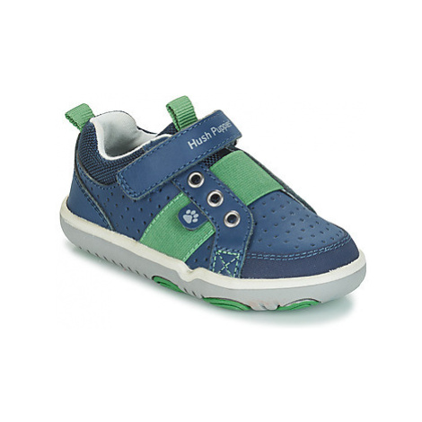 Hush puppies JESSE boys's Children's Shoes (Trainers) in Blue