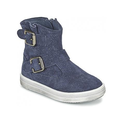 Blue girls' boots