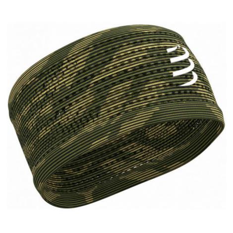 Compressport HEADBAND ON/OFF dark green - Light sports headband