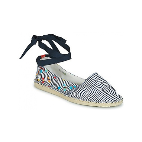 Havaianas ORIGINE SLIM PRINT women's Espadrilles / Casual Shoes in White