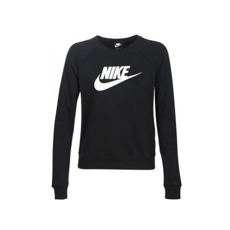 Nike W NSW ESSNTL CREW FLC HBR women's Sweatshirt in Black