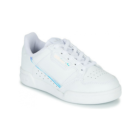 Adidas CONTINENTAL 80 C girls's Children's Shoes (Trainers) in White